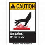 Brady 49839, Do Not Touch/Hot Label