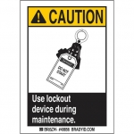 Brady 49856, Use Lockout Device Label