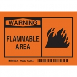 Brady 49950, Flammable Area Label