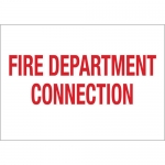 Brady 51546, 10″ x 14″ Aluminum Fire Department Connection Sign