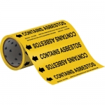 Brady 52665, 2″ Dia Vinyl Roll Form Pipe Marker, Black on Yellow