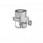 Ace Glass 5838-09, 28 UNF Nylon Filter-Adapter Flow Valve