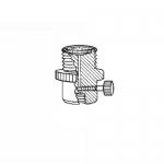 Ace Glass 5838-13, 28 UNF Nylon Filter-Adapter Flow Valve