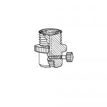 Ace Glass 5838-16, 28 UNF Nylon Filter-Adapter Flow Valve