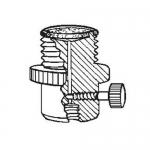Ace Glass 5838-49, 28 UNF PTFE Filter-Adapter, Flow Valve