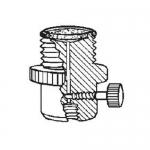 Ace Glass 5838-53, 28 UNF PTFE Filter-Adapter, Flow Valve