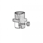 Ace Glass 5838-55, 28 UNF PTFE Filter-Adapter, Flow Valve