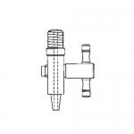 Ace Glass 5839-04, 1/4in MNPT Male Luer-Lok Valve, PTFE