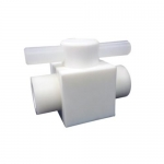 Ace Glass 5839-68, 3/8in FNPT Ports, PTFE Stopcock Valve,2-Way