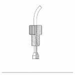 Ace Glass 5854-24, Tubing Connection, Ferrule Only, 1.5mm (1/16in)