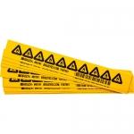 Brady 60203, 2″ x 2″ Vinyl Warning Label, Black on Yellow