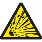 Brady 60226, 8″ x 8″ Vinyl Warning Label, Black on Yellow