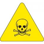 Brady 60216, 4″ x 4″ Vinyl Warning Label, Black on Yellow