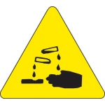 Brady 60228, 8″ x 8″ Vinyl Warning Label, Black on Yellow