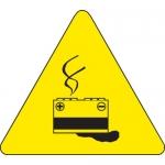 Brady 60230, 8″ x 8″ Vinyl Warning Label, Black on Yellow