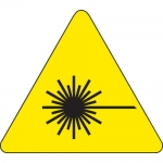 Brady 60220, 4″ x 4″ Vinyl Warning Label, Black on Yellow
