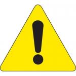 Brady 60221, 4″ x 4″ Vinyl Warning Label, Black on Yellow