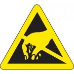 Brady 60190, 0.5″ x 0.5″ Vinyl Warning Label, Black on Yellow