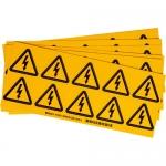Brady 60202, 2″ x 2″ Vinyl NFPA Label, Black on Yellow