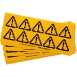 Brady 60210, 2″ x 2″ Vinyl Warning Label, Black on Yellow