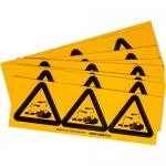 Brady 60217, 4″ x 4″ Vinyl Warning Label, Black on Yellow