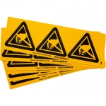 Brady 60223, 4″ x 4″ Vinyl Warning Label, Black on Yellow