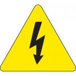 Brady 60213, 4″ x 4″ Vinyl Warning Label, Black on Yellow