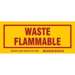Brady 60258, 3″ x 7″ Polyester Waste Flammable Label