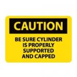 Brady 62745, 10″ x 14″ Fiberglass Be Sure Cylinder Sign,