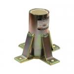 FallTech 65060FMZ, Floor-Mount Sleeve Zinc Plated for Space Davit