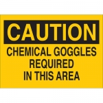 Brady 69041, Chemical Goggles Required In This Area Sign
