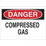 Brady 22322, Compressed Gas Sign, Black/Red on White