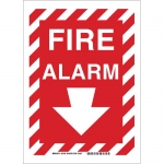 Brady 43285, 14″ x 10″ Aluminum Fire Alarm Sign