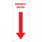 Brady 25703, 14″ x 10″ Polystyrene Emergency Shutoff Sign