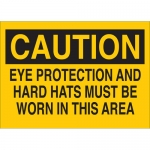 Brady 25201, Hard Hats Must Be Worn In This Area Sign