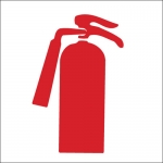 Brady 42746, 7″ x 10″ Aluminum Fire Extinguisher Sign