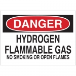 Brady 25453, Flammable Gas No Smoking Or Open Flames Sign