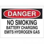 Brady 22334, Battery Charging Emits Hydrogen Gas Sign