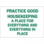 Brady 69444, Housekeeping A Place for Everything… Sign