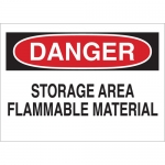 Brady 43255, Danger Storage Area Flammable Material Sign