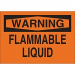 Brady 25693, 10″ x 14″ Polystyrene Warning Flammable Liquid Sign