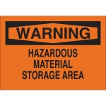 Brady 43316, Warning Hazardous Material Storage Area Sign