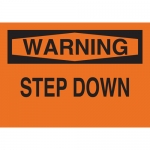 Brady 25635, 10″ x 14″ Polystyrene Warning Step Down Sign