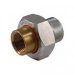 Jomar 701-505G, Dielectric Union Lead Free Brass FIP x Galvanized FIP