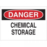 Brady 40876, 10″ x 14″ Aluminum Danger Chemical Storage Sign