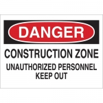 Brady 70255, Zone Unauthorized Personnel Keep Out Sign