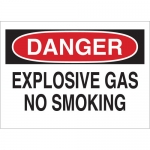 Brady 25651, Danger Explosive Gas No Smoking Sign