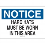 Brady 70370, Hard Hats Must Be Worn In This Area Sign