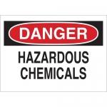 Brady 43018, 10″ x 14″ Aluminum Danger Hazardous Chemicals Sign