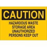 Brady 41273, Caution Hazardous Waste Storage Area… Sign